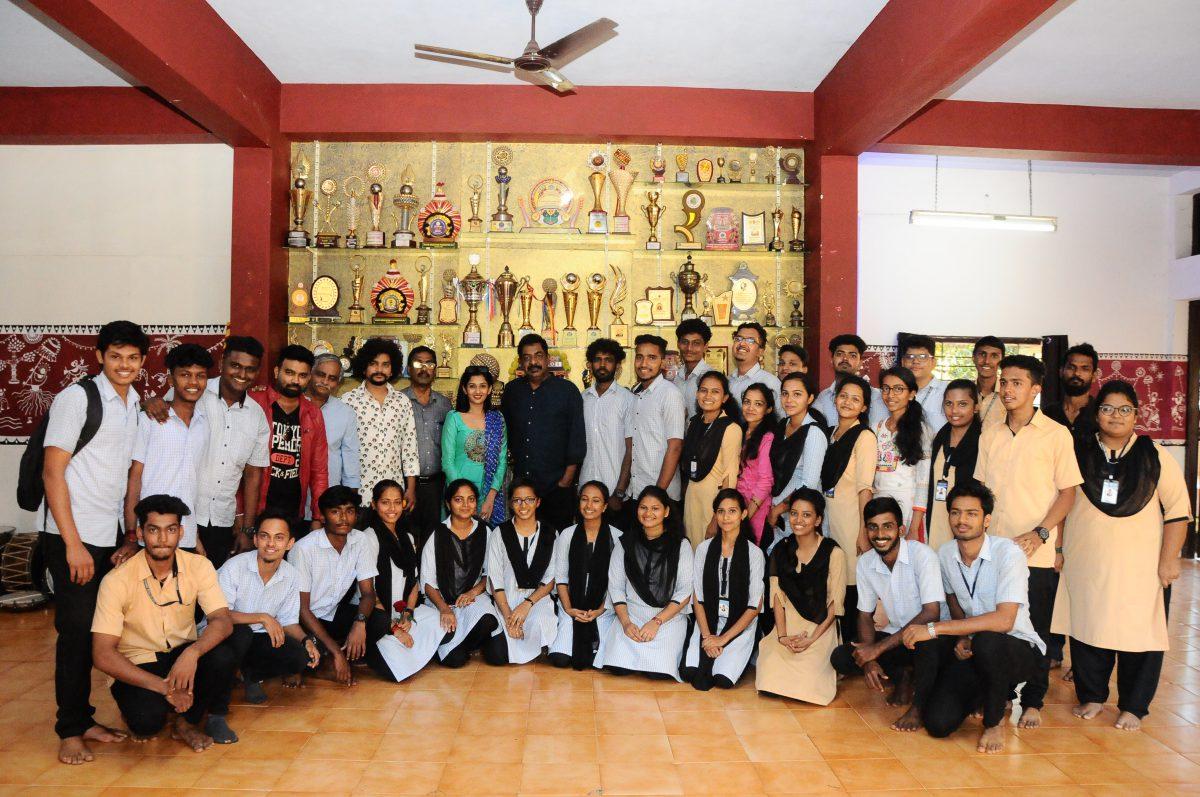 Interaction with students by Kannada Film Director Shri.Yograj Bhat 2018-19