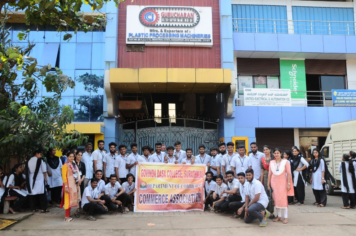 Industrial visit to Gurucharan industries and Gyp-gyp-gee-2019-2020
